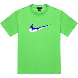 트립션 파랑 밴딩 치약 티셔츠 - 라임
