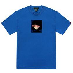 트립션 걸 스퀘어 티셔츠 - 블루