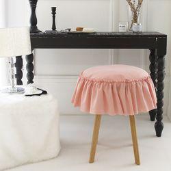 빈티지무드 원형방석-핑크(솜포함)