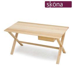 모리카 포플러 원목 1500 수납책상 테이블