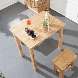 케이 원목 2인 식탁세트 (의자2)