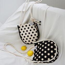 knots point dot mini bag (black)