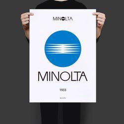 일본 인테리어 디자인 포스터 M 미놀타 A3(중형)