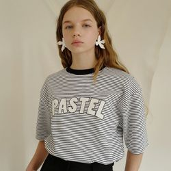 PASTEL STRIPE T (WHITE)