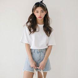 [로코식스] 어썸 백 레터링 티셔츠
