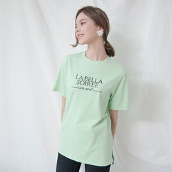 LETTERING HALF SLEEVES TOP(GREEN)