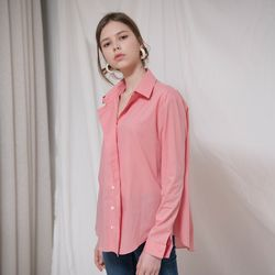 DRAPE PLACKET COTTON SHIRTS