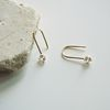 14k gold cubic hook earring