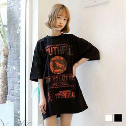 2111 유스 프린트 반팔 티셔츠 (2colors)