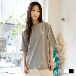2113 LA 자수 반팔 티셔츠 (3colors)