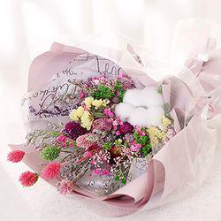 목화 프리저브드 꽃다발(핑크)