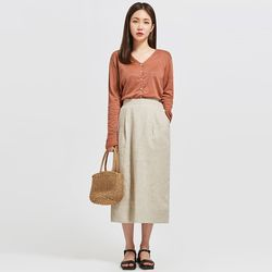 cherry v-neck linen cardigan