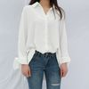 Silky loose fit blouse