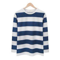 네이비 스트라이프 라운드 티셔츠MOD010NAVY