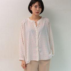 salon dot blouse (2color)
