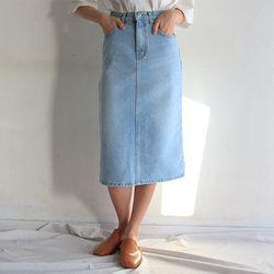 daisy long denim skirt (2color)