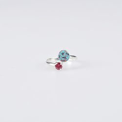 [7월탄생석] tokyo spring silver ring