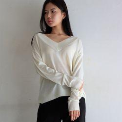 beyond v neck knit (3color)