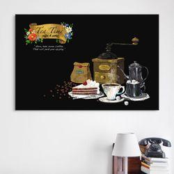 iv096-커피타임가로중형노프레임