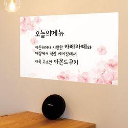 ch891-분홍벚꽃칠판시트지