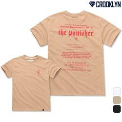 [크루클린] TRS-029 퍼니셔 레터링 반팔 티셔츠