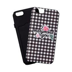 범퍼케이스 체크 복숭아(블랙) 아이폰6&6S