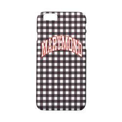 하드케이스 심플체크 복숭아(블랙) 아이폰6&6S
