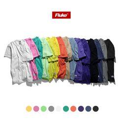 [1+1(선택가능)] 플루크 스탠다드 피그먼트 티셔츠 FST018Z10010color