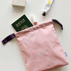 데일리 스트링 파우치 - 01 Charming pink