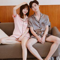 modern couple pajamas