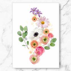 인테리어 식물 그림 액자 라넌 플로라 캔버스 6호