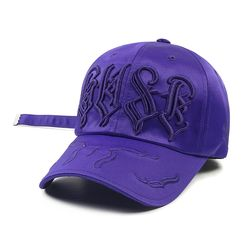 WAVE SATIN BASEBALL CAP VIOLET
