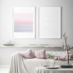 블루밍 핑크 풍경 인테리어 액자 포스터 3종 [A2대형]