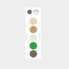 5 circle sticker - greenery