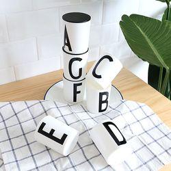 알파벳 다용도홀더 컵 뚜껑 세트