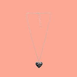 HEART MEDAL NECKLACE (얼모스트블루 목걸이)