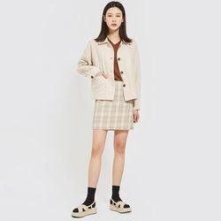 thin collar short jacket