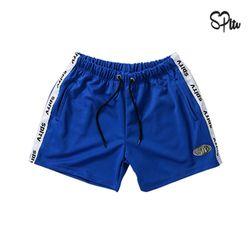 슈퍼레이티브 - TAPING SHORT PANTS - 블루