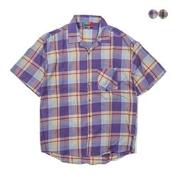 Open Madras Check Shirt(2color)(unisex)