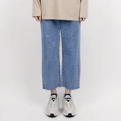 Crop wide jeans