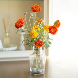 써니 옐로우&오렌지 화병세트 라넌큘러스 조화묶음