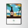 유니크 디자인 포스터 M 맥주와 휴식 A3(중형)