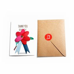 Thank You Carnation Broach Large
