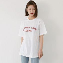 [로코식스] 에버 레터링 티셔츠