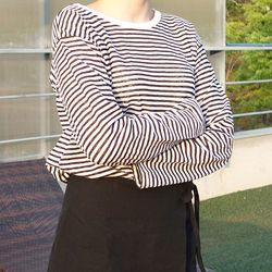 마린 스트라이프 티셔츠 (3color)