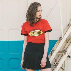 Crump color logo woman tee (CT0140-3)