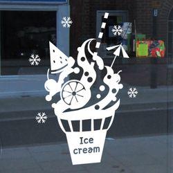 cj870-시원한아이스크림그래픽스티커