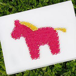 말 핑크  스트링아트 (스펀지)