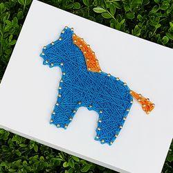 말 블루  스트링아트 (스펀지)