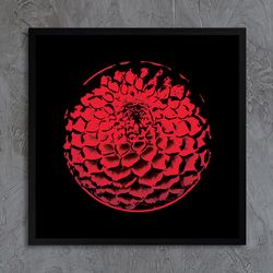 LP 메탈 액자 - 붉은 꽃
